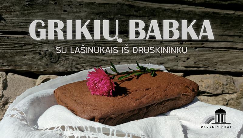 Lietuviškas pyragas – grikių babka su lašinukais iš Druskininkų